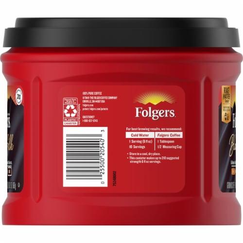 Folgers Black Silk Dark Roast Ground Coffee Perspective: left
