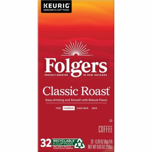 Folgers Classic Roast Medium Roast Coffee K-Cup Pods Perspective: left