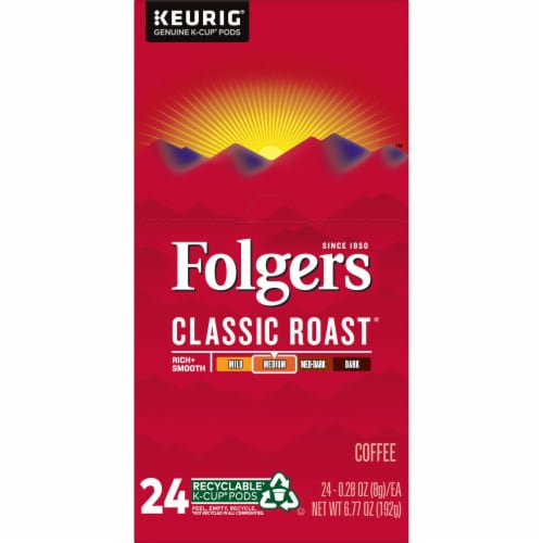 Folgers Classic Roast Coffee K-Cup Pods Perspective: left