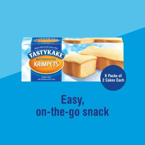 Tastykake Butterscotch Krimpets Sponge Cakes Perspective: left