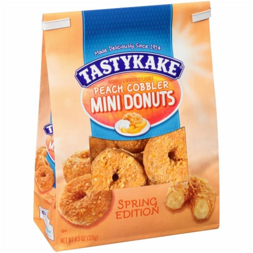 Tastykake Peach Cobbler Mini Donuts Perspective: left