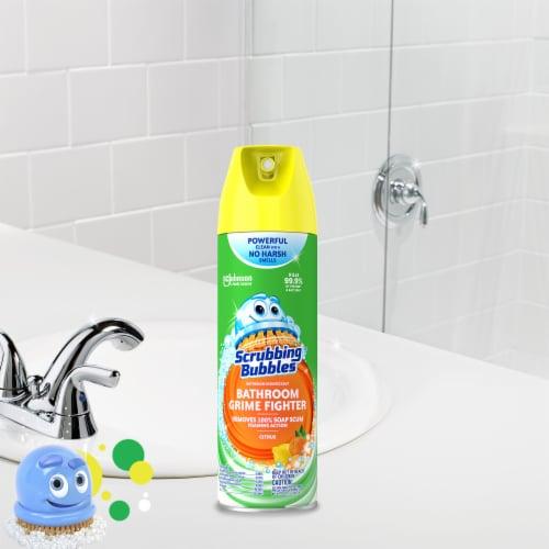Scrubbing Bubbles Citrus Bathroom Grime Fighter Perspective: left