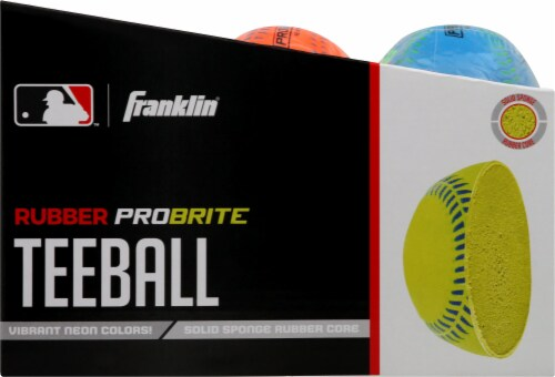 Franklin MLB Neon Rubber Teeball - Assorted Perspective: left