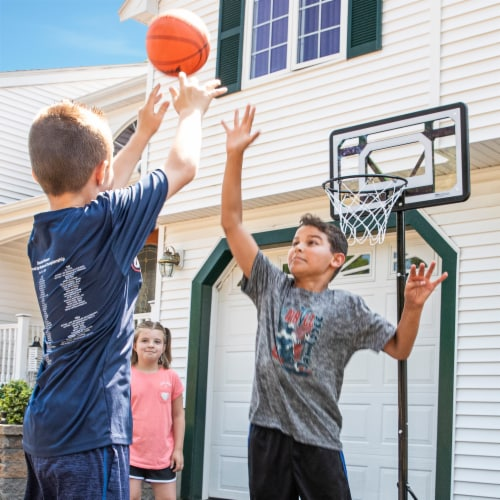 Franklin Adjustable Basketball Hoop - Black/White Perspective: left