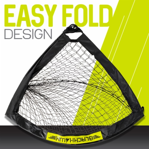 Franklin Blackhawk Soccer Goal - Black/Yellow Perspective: left