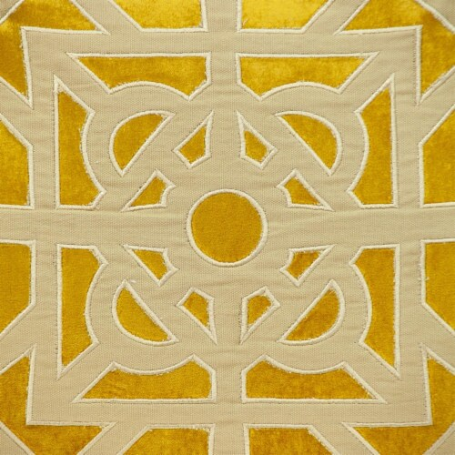 Parkland Collection Hazel Transitional Mustard Yellow Throw Pillow Perspective: left
