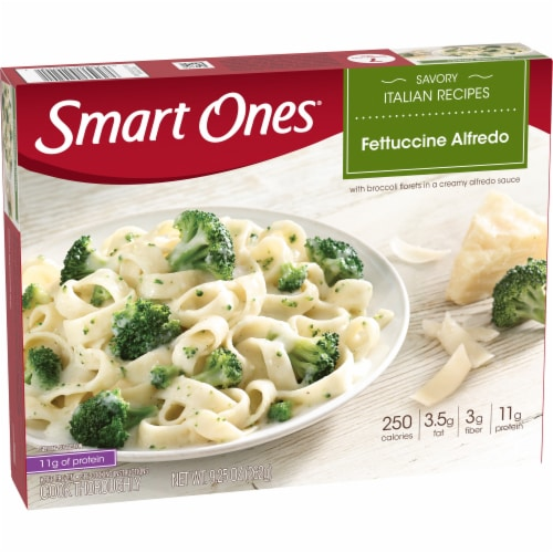 Smart Ones Savory Italian Recipes Fettuccine Alfredo Perspective: left