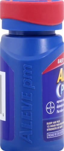 Aleve® PM Pain Reliever & Nighttime Sleep-Aid Caplets Perspective: left