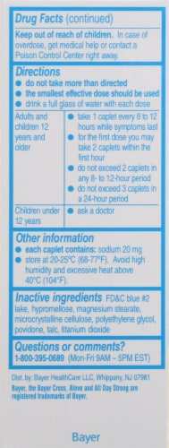 Aleve® Naproxen Sodium Pain Reliever/Fever Reducer Caplets 220mg Perspective: left