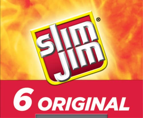 Slim Jim Original Giant Smoked Meat Snack Sticks Perspective: left