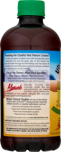 Lily of the Desert Organic Aloe Vera Juice Whole Leaf Dietary Supplement Perspective: left