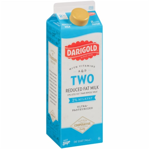 Darigold Two Ultra-Pasteurized 2% Reduced Fat Milk Perspective: left