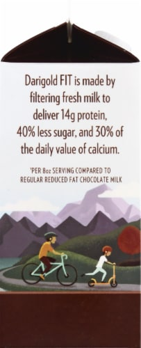Darigold Fit Chocolate Reduced Fat Ultra-Filtered Milk Perspective: left