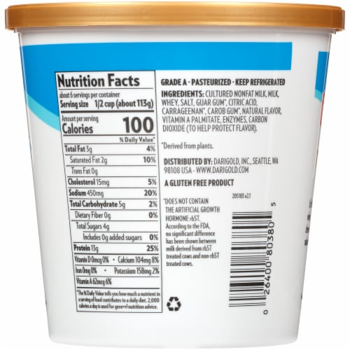 Darigold 2% Lowfat Cottage Cheese Perspective: left