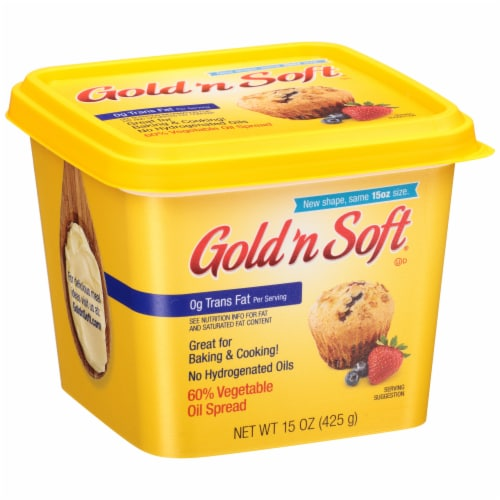 Gold 'n Soft Vegetable Oil Spread Perspective: left