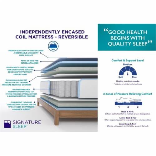 Signature Sleep Essence 8  Full Coil Memory Foam Mattress Perspective: left