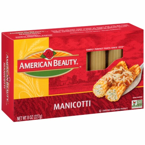 American Beauty Manicotti Pasta Perspective: left