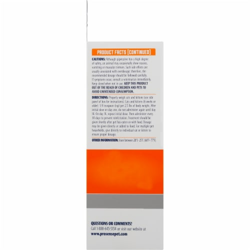 Pro-Sense Dewormer Solutions for Cats Perspective: left