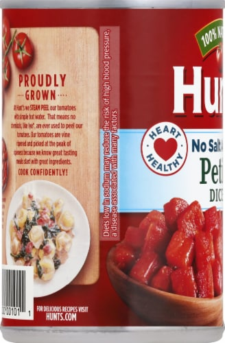 Hunt's No Salt Added Petite Diced Tomatoes Perspective: left