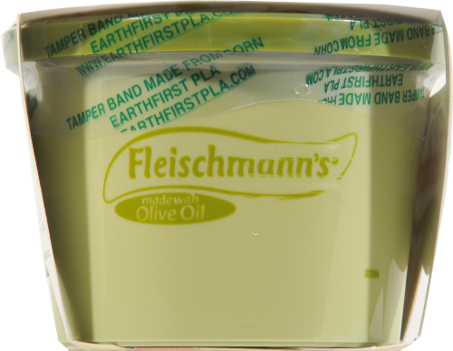 Fleischmann's Vegetable Oil with Olive Oil Spread Perspective: left