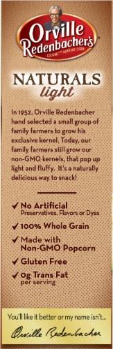 Orville Redenbacher's Naturals Light Classic Butter & Sea Salt Microwave Popcorn Perspective: left