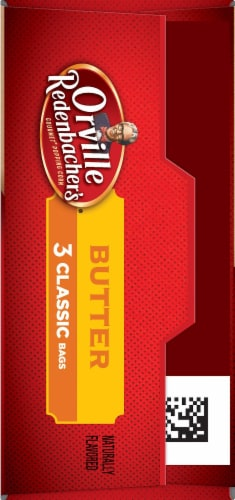 Orville Redenbacher's Butter Popcorn Classic Bags 3 Count Perspective: left