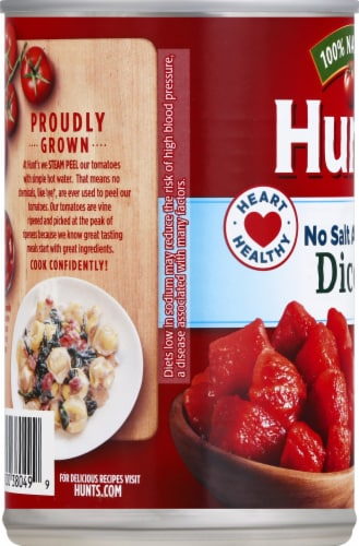 Hunt's No Salt Added Diced Tomatoes Perspective: left