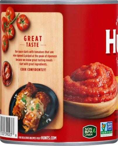 Hunt's Tomato Sauce Perspective: left