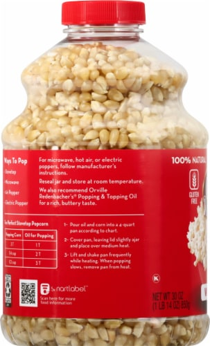 Orville Redenbacher's Original Gourmet White Popcorn Kernels Perspective: left