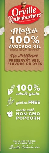 Orville Redenbacher's Avocado Oil Sea Salt Microwave Popcorn Perspective: left
