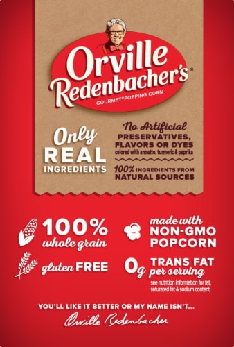 Orville Redenbacher's Movie Theater Buttered Popcorn Bags Perspective: left