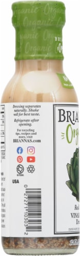 Brianna's Organic Real French Vinaigrette Dressing Perspective: left