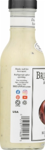 Brianna's Homestyle Creamy Blue Cheese Dressing Perspective: left