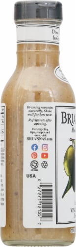Brianna's Italian Vinaigrette Salad Dressing Perspective: left