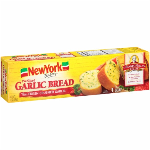 Nre York Bakery Homestyle Garlic Loaf Perspective: left