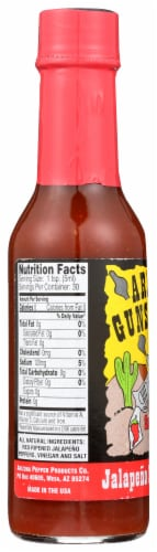 Arizona Gunslinger Jalapeno Pepper Sauce Perspective: left