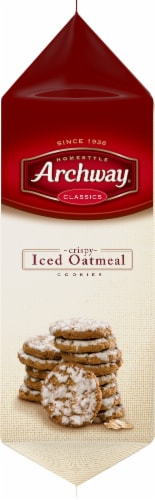 Archway Homestyle Classics Crispy Iced Oatmeal Cookies Perspective: left