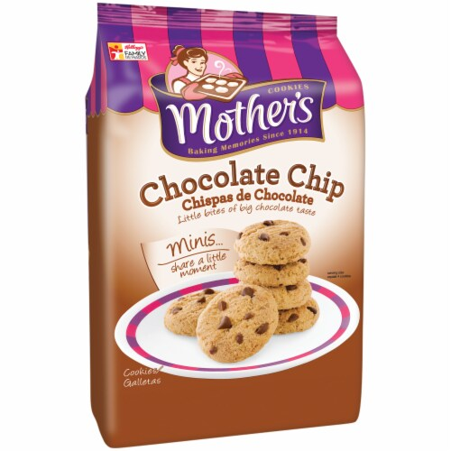 Mother's Minis Chocolate Chip Cookies Perspective: left
