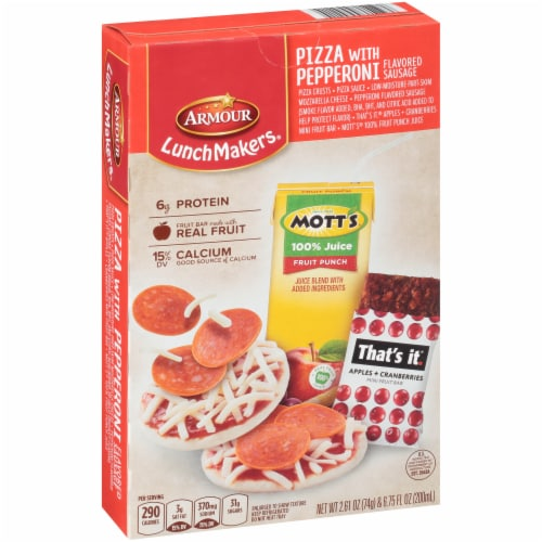Armour LunchMakers Pizza with Pepperoni Flavored Sausage Lunch Kit Perspective: left
