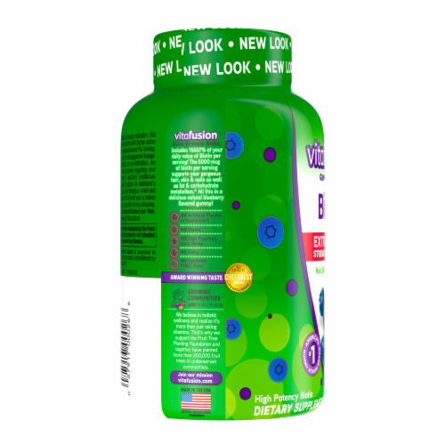 Vitafusion Extra Strength Biotin Gummies Perspective: left