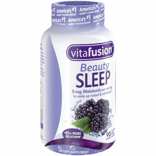 Vitafusion Beauty Sleep Natural Berry Flavor Melatonin Supplement Gummies 90 Count Perspective: left