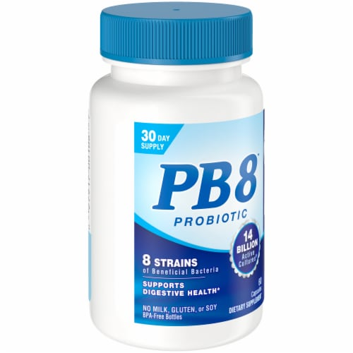 Nutrition Now PB 8 Probiotic Acidophilus Capsules 60 Count Perspective: left
