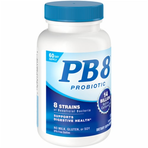 Nutrition Now PB8 Digestive Health Support Capsules Perspective: left
