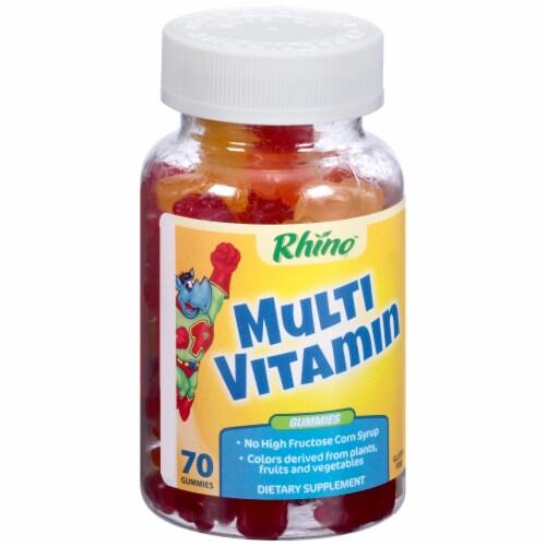 Rhino Multi Vitamin Gummies 70 Count Perspective: left