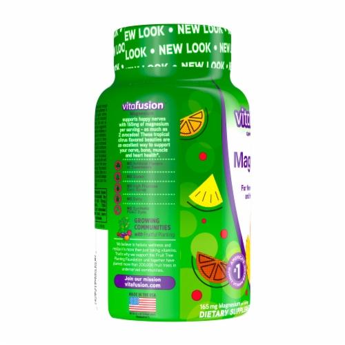 Vitafusion Magnesium Natural Tropical Citrus Flavor Adult Gummies 165mg Perspective: left