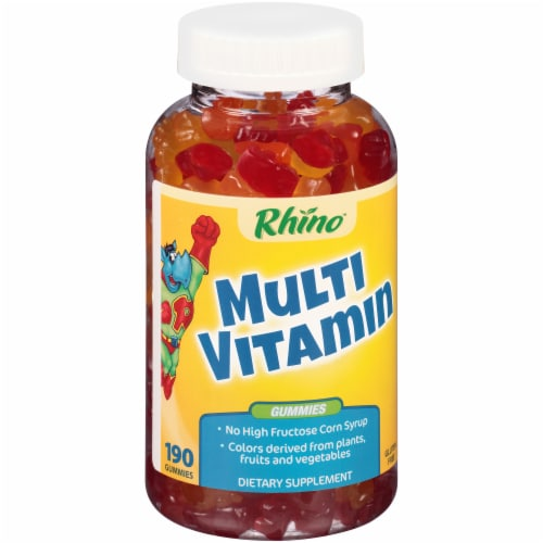 Rhino Multi Vitamin Gummies 190 Count Perspective: left