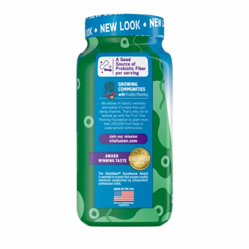 Vitafusion Fiber Well Fit B-Vitamin Gummies Perspective: left