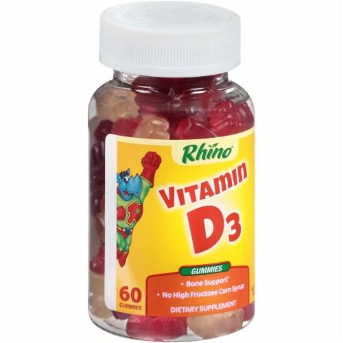 Rhino Vitamin D3 Gummies Perspective: left