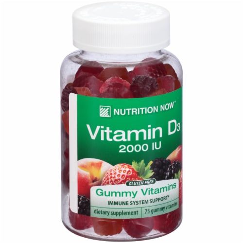 Nutrition Now Vitamin D3 Gummies Perspective: left