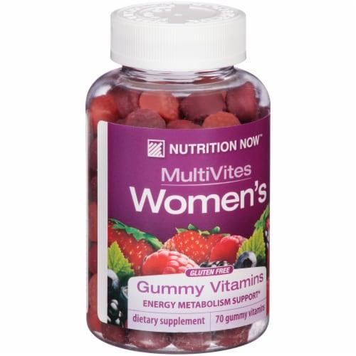 Nutrition Now MultiVites Women's Gummy Vitamins Perspective: left